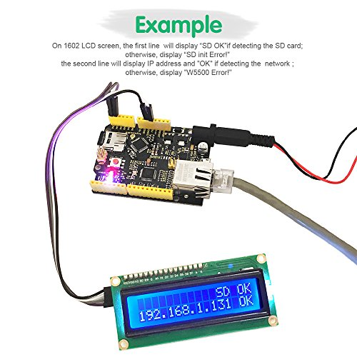 KEYESTUDIO W5500 Ethernet Development Board with USB Cable(Without Poe) for Arduino by KEYESTUDIO (Image #1)