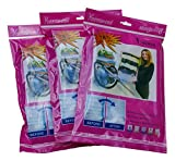Large Vacuum Seal Storage Bags by Riun Ex | 3 Pack Set | Keeps Seal Longer | Shrinks storage up to 78% | Organize Your Whole Closet | Resistant To Water, Mildew and Odors