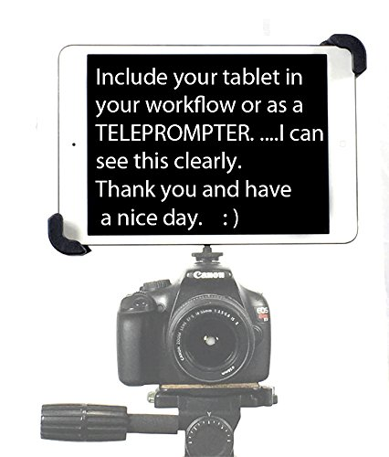 iShot G10 Pro iPad Universal Tablet SLR Camera Teleprompter Hot Shoe Flash Adapter & Tripod Mount Connection + Rock Solid 11 inch Articulating Extension Arm - Compatible with iPad & 7-11'' Tablets