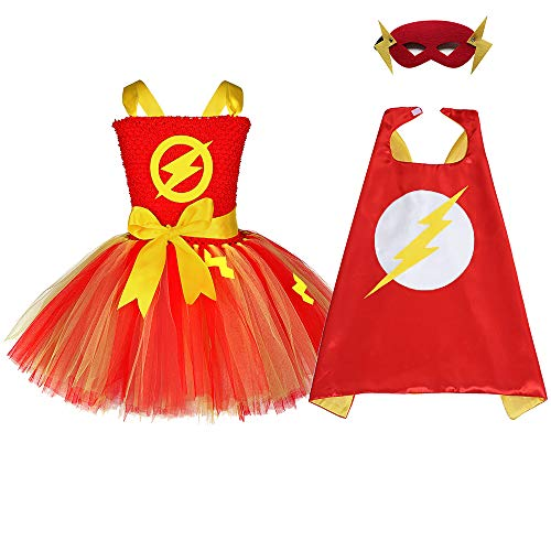 Baby Girls Superhero Costumes Birthday Supergirl Outfits Set Size 6]()