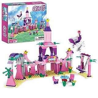 Dream Girls Princess Castle Building Blocks Toys 346 Pieces Palace Building Bricks Sets for Kids Age 6+