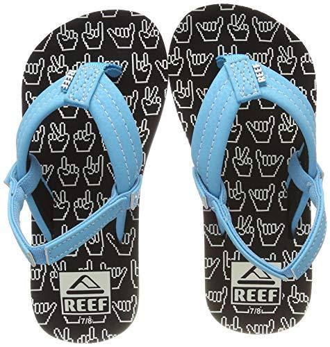 (Reef Boys AHI Glow Sandal Shaka, 910 M US Little Kid)
