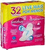 Intimus Absorvente Externo, Tripla Proteção Suave com Abas, 32 unidades