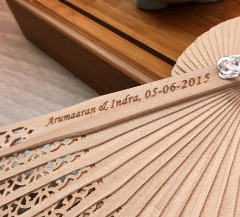 Engraving 100 Pcs/Lot Personalized /Customized Folding Hollow Carved Hand Fan With For Gift Bag For Wedding by Hand Fan
