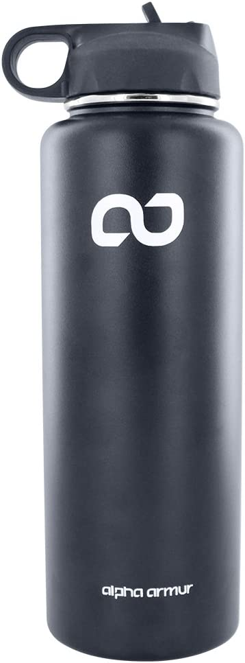 Alpha Armur Stainless Steel Vacuum Insulated Water Bottles Double Wall Insulated Stainless Steel Leak Proof Sports Water Bottles, Wide Mouth