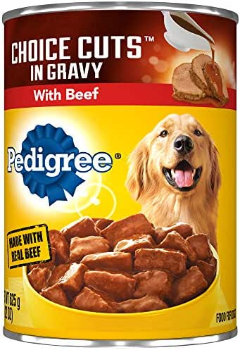 Pedigree Choice Cuts In Gravy With Beef Adult Canned Wet Dog Food, (12) 22 Oz. Cans