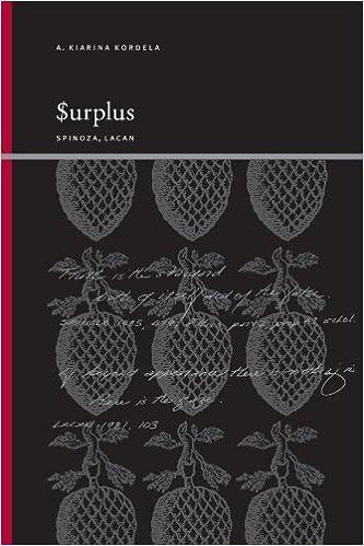 Book Surplus: Spinoza, Lacan (Suny Series, Insinuations: Philosophy, Psychoanalysis, Literature) by A. Kiarina Kordela (2008-01-03)