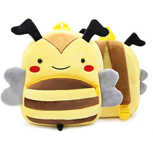 Children Toddler Preschool Backpack Plush Animal Cartoon Backpack Baby Kids School Satchel Travel Lunch Bags BEE