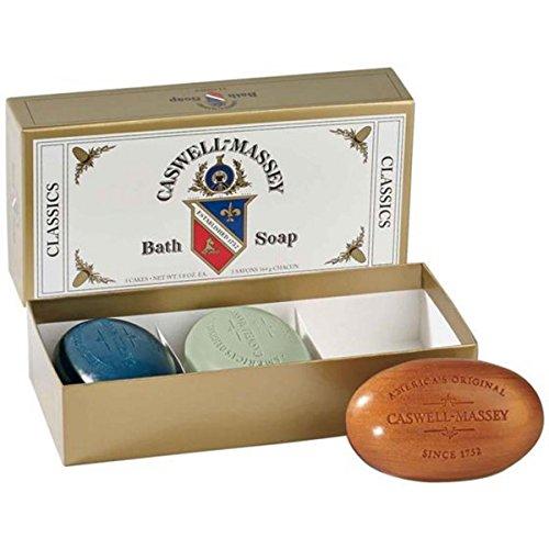 Caswell-Massey Men's Classic Soap Set, Greenbriar/Sandalw...