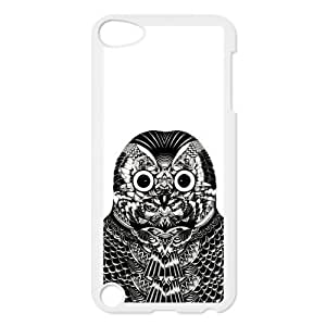 Black and White Owl Protective Hard PC Back Fits Cover Case for iPod Touch 5, 5G (5th Generation) hjbrhga1544