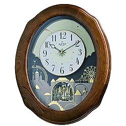 Rhythm Clocks Joyful Timecracker Oak Magic Motion Clock
