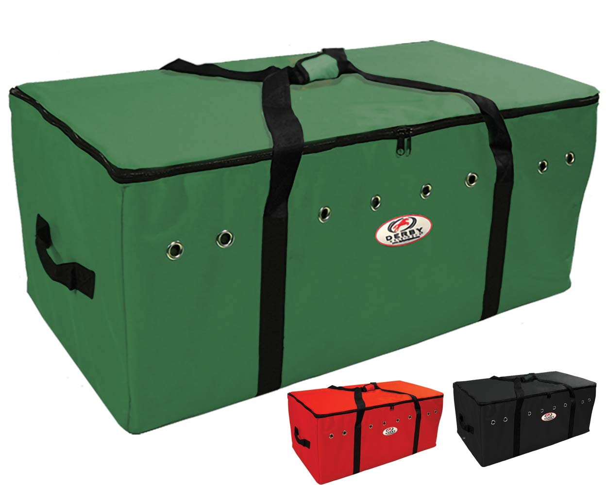 Derby Originals Heavy Duty 3 Layer Bottom Full Bale Bags, 44'' x 22'' x 18'', Hunter Green by Derby Originals