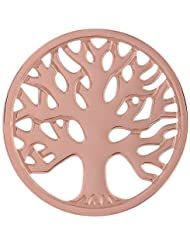 MS Koins Stainless Steel Tree of Life Coin Rose Gold Plated Fits Our Coin Locket System, 30mm Diameter