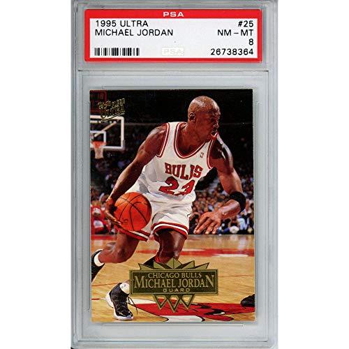 Sports Memorabilia Michael Jordan Chicago Bulls 1995 Ultra Trading Card - PSA 8 - Basketball Cards from Sports Memorabilia