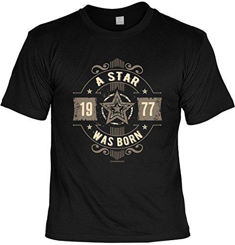T-Shirt - 1977 A Star was born - cooles Shirt mit lustigem Spruch als ideales Geburtstagsgeschenk