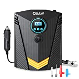 Oittm Digital Tire Inflator, DC12V 10A, Portable Air Compressor with LED Light, Quick Connect Tire Pump, Auto Shutoff, Fast Inflating, KPS/BAR/PSI/KGF (Black) For Sale