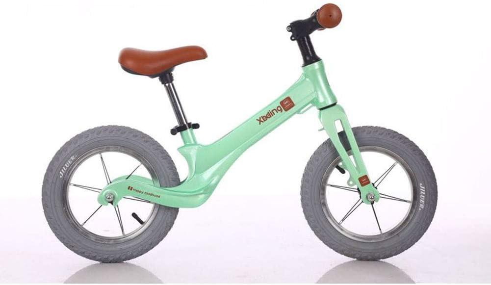 1-1 Bicicletas sin Pedales para niños, Aleación de magnesio Neumáticos de neumáticos de gomaa Prueba de pinchazos Ultraligero Seguro,Green: Amazon.es: Deportes y aire libre