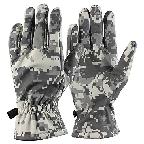 - WodCht Winter Army Military Tactical Men Gloves Outdoor Sports Full Finger Mittens With Fleece Waterproof,Acu,M