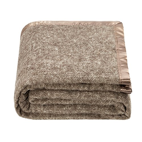 (spencer & whitney Bed Blanket Wool Blanket Soft Throw Blanket Herringbone Blanket Four Season Use Warm Throw Blanket Large Wool Blanket Luxury Fleece Blanket Blanket Throws (Brown,Twin) )