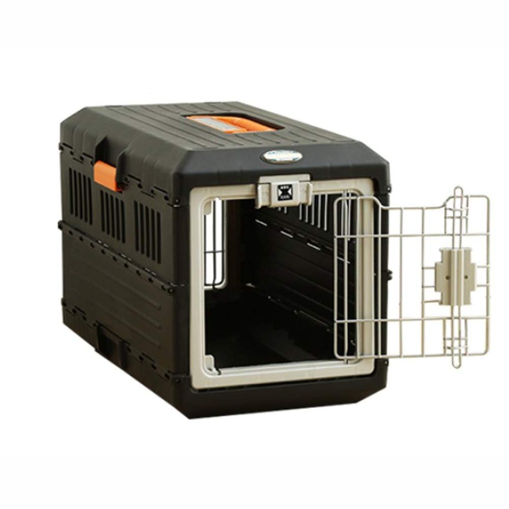 IRIS Oyama Collapsible Foldable Kennel Portable Hard Travel Vet Visit Pet Dog Cat Carrier for Small Dog(Less Than 7kg)