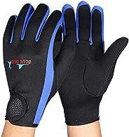 Diving Gloves, Aramox Neoprene Wetsuit Five Finger Gloves for Men Women Snorkeling Swimming Kayaking Diving Su
