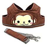 Baby Lovess Handheld Baby Walker Helper Toddler Safety Harnesses and Leashes Kid's Safe Toddler Safety Baby Learning Walking Belt Harness for 6-48Months (Coffee-Monkey)