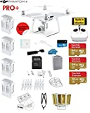 #3: DJI Phantom 4 PRO+ Quadcopter Drone with 1-inch 20MP 4K Camera KIT With Monitor + 4 Total DJI Batteries + 3 64GB SDXC Cards + Card Reader 3.0 + Prop Guards + Range Extender + Harness + Charging Hub