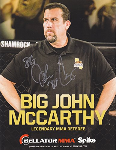 'Big' John McCarthy Autographed 8x10 Photograph Strike Force MMA UFC Referee + Bonus by Archrival Autographs