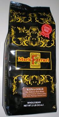 Kona Gold Whole Bean (Kona Blend) 2 LB Bag