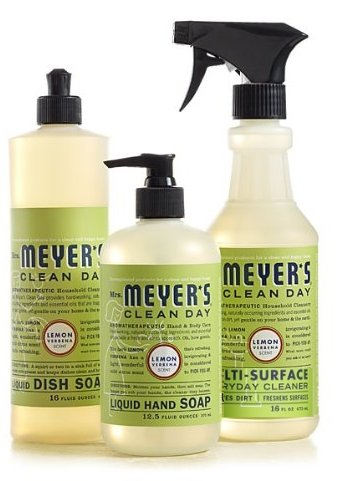 (Mrs. Meyers Clean Day Lemon Verbena Kitchen Basics Set (Bundle))