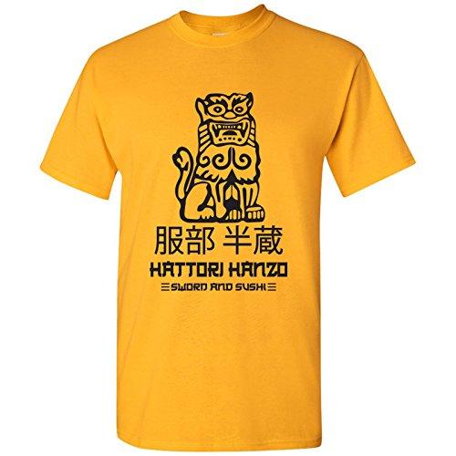 UGP Campus Apparel Hattori Hanzo - Movie Sword and Sushi Japan Okinawa T Shirt - X-Large - Gold