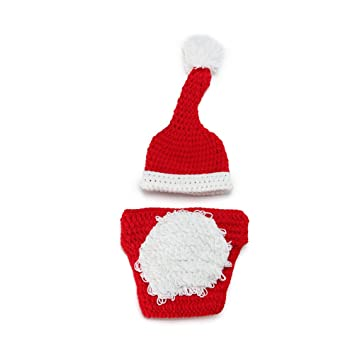 Newborn Baby Christmas Knitted Crochet Photography Prop Costume Outfits 58fe9923d8e6