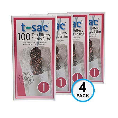 Modern Tea Filter Bags, Disposable Tea Infuser, Size 1, Set of 400 Filters - 4 Boxes - Heat Sealable, Natural, Easy to Use Anywhere, No Cleanup - Perfect for Teas, Coffee & Herbs - from Magic Teafit