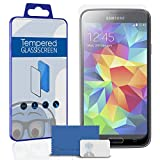 Samsung Galaxy S5 SV SM-G900F I9600 / Galaxy S5 Neo Screen Protector [ 2 PACK ] TUFF STEALTH Tempered Glass Protective LCD Anti-Scratch Durable
