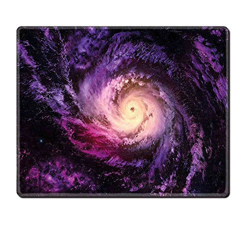 Mouse Pad Unique Custom Printed Mousepad Galaxy Purple Alluring Nebula Cloudy Stardust Cluster Digital Print Of A Galaxy In Space Image Black Purple Stitched Edge Non Slip (Cluster Gear Image)