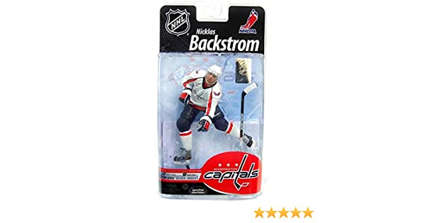 4bc3f773950 McFarlane Toys NHL Sports Picks Series 25 U.S. Exclusive Action Figure  Nicklas Backstrom (Washington Capitals) White Jersey Silver Collector Level  Chase