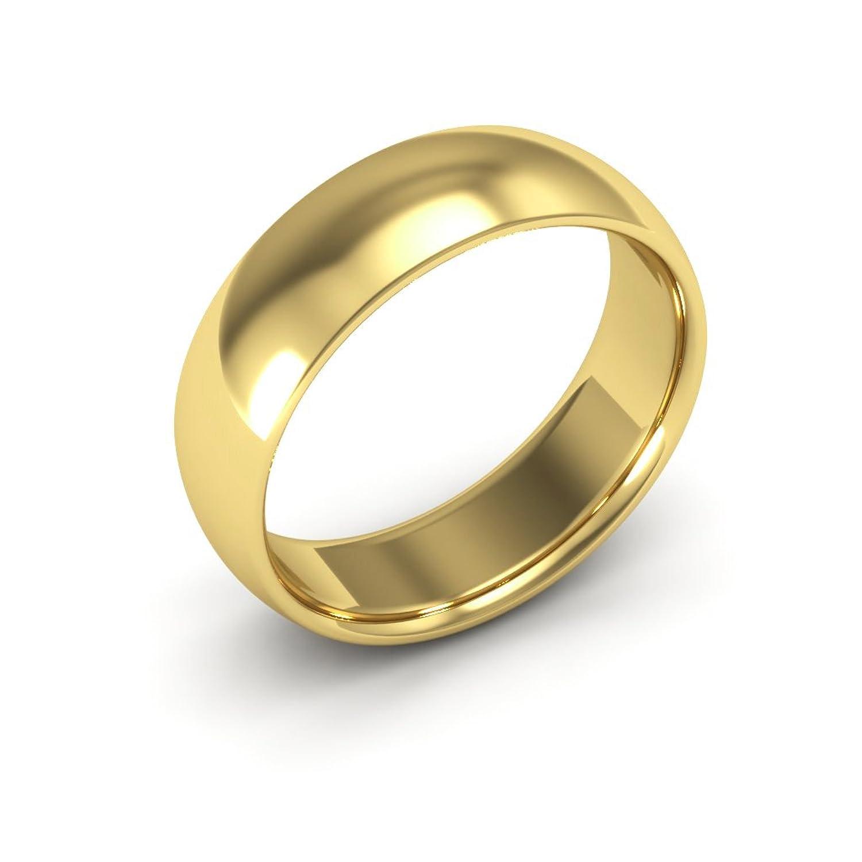 14k yellow gold men s and women s plain wedding bands 6mm comfort