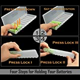 Whizzotech AA AAA C D Battery Storage Case Holder