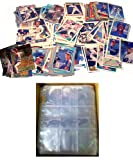 100 TEXAS RANGERS Baseball Cards + 10 Binder Pages