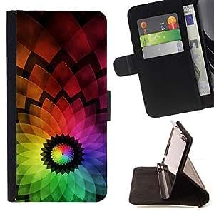 Momo Phone Case / Flip Funda de Cuero Case Cover - Flor colorida abstracta - Apple Iphone 5C