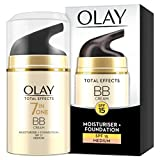 Olay Total Effects 7-in-1 Touch of Foundation Anti-Ageing BB Moisturiser with Niacinamide,...