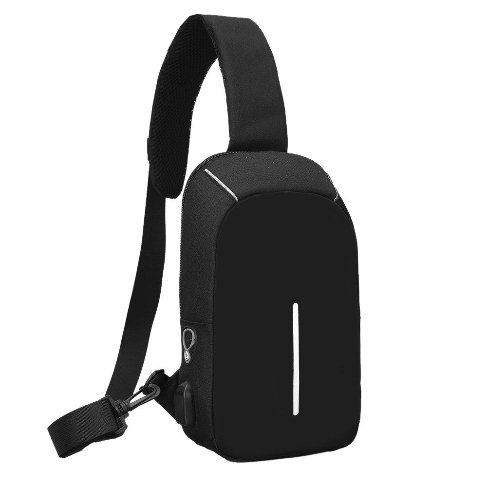Wenyujh Sling Backpack Lightweight Shoulder Chest Crossbody Bag for Women Men Casual Hiking Travel Sports Bag