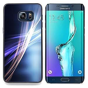 Stuss Case / Funda Carcasa protectora - Gris Gris Líneas Púrpura Oro - Samsung Galaxy S6 Edge Plus / S6 Edge+ G928