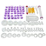 Fondant Tools,Thsinde 87 Fondant Cake Sugarcraft Alphabet Letters Cutters Cake Decorating Tools Cutters Icing Modelling Tool Kit Rolling Pin, Smoother, Embosser Mould Tools,Scissors