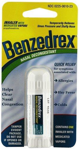 Benzedrex Nasal Decongestant Inhaler (Pack of 6)