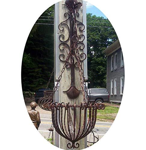 Hanging Planter w/Bracket Rust Finish Wrought Iron