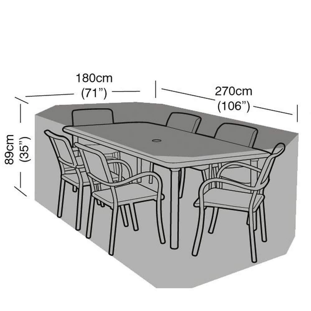 Table et 8/chaises Garland Housse rectangulaire pour Meubles de Jardin