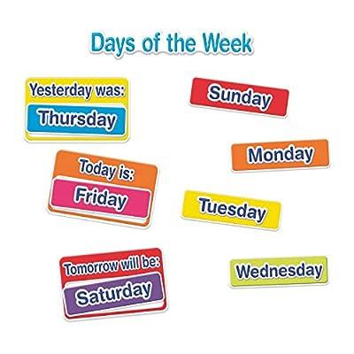 Eureka Multicolor Weather and Calendar Bulletin Board Classroom Decoration Set, 38pcs, 17'' x 24'' : Office Products