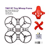 LDARC TINY R7 Tiny Whoop Frame Kit 75mm Frame with 4-blades Props Canopy for Kingkong Tiny R7 DIY Micro FPV Quadcopter Mini Drone