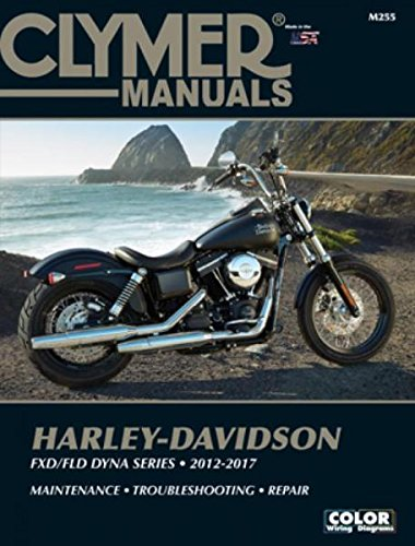 2012-2017 Harley Davidson Dyna Street Fat Bob Super Wide Glide Custom Low Rider Switchback CLYMER REPAIR MANUAL ()